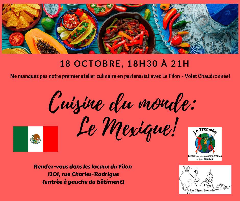 Atelier culinaire Mexique